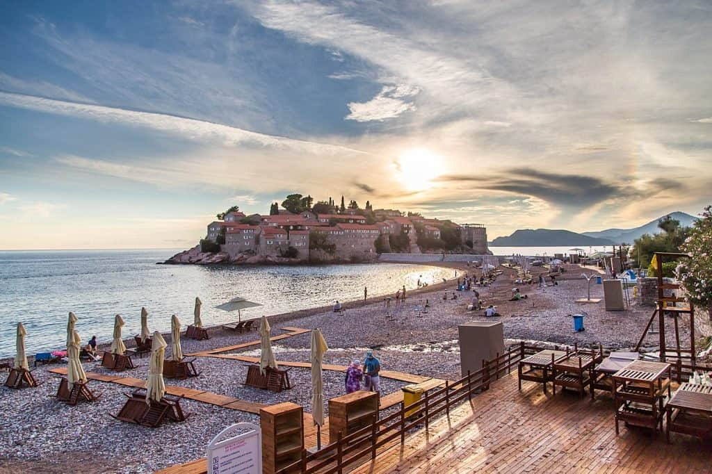 Sveti Stefan Montenegro, The South beach