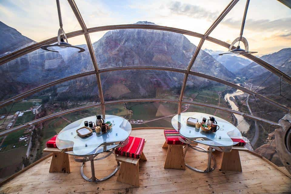 Skylodge Adventure Suites in Peru, Glass pods