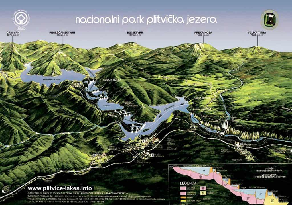 Plitvice Lakes trail map