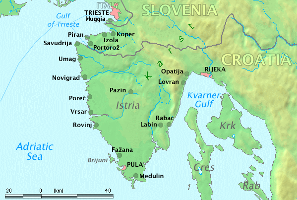 Istria Map