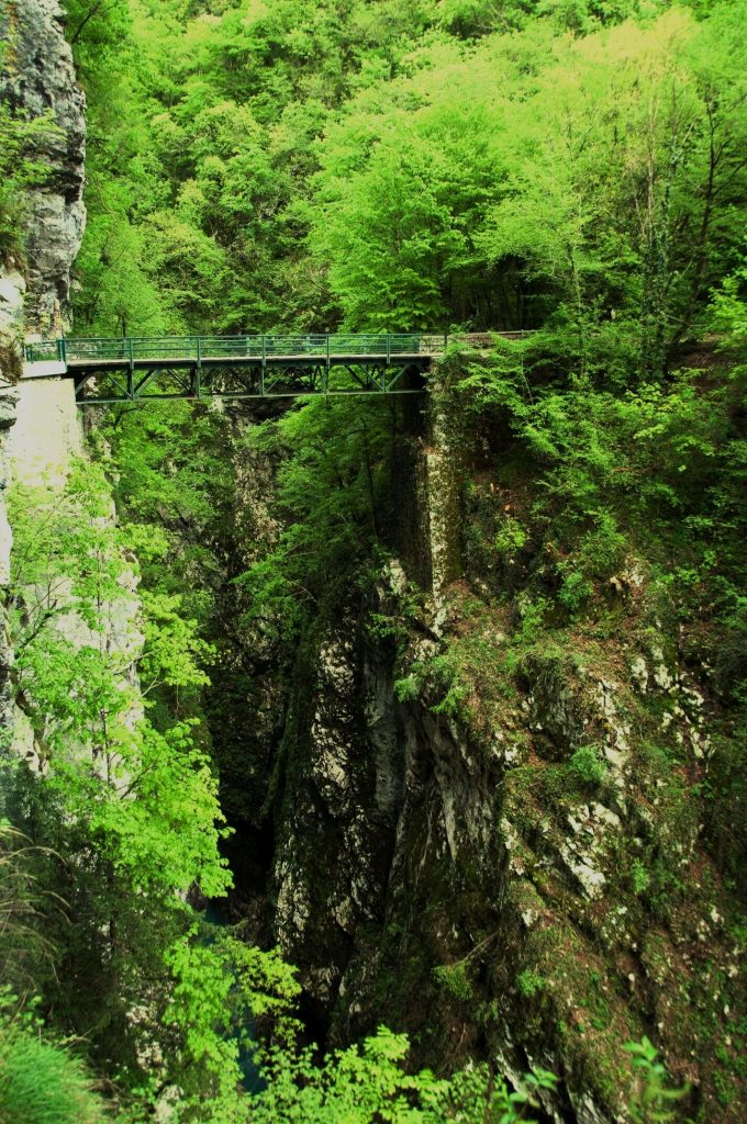 The Devil's bridge tolmin gorge
