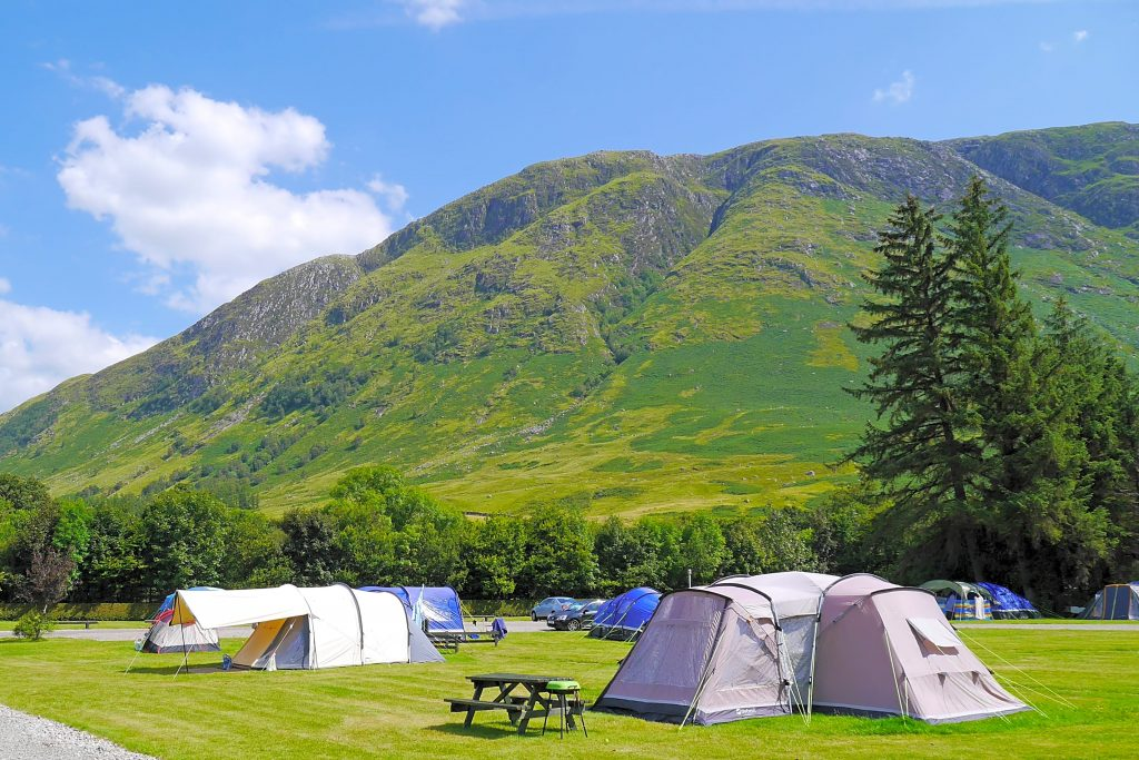 Glen Nevis Caravan and Camping Park 1024x683 - Camping Places In United Kingdom – From Scotland To England